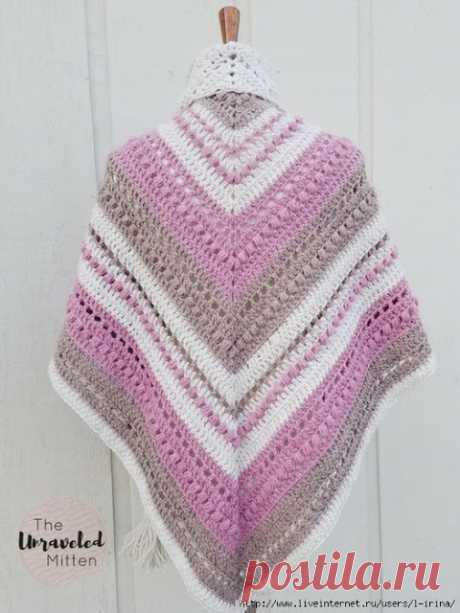 Four more very beautiful shawls hook \u000d\u000aShawl hook of What You Love Shawl\u000d\u000a\u000d\u000a\u000d\u000a Designer of Heather (The Unraveled Mitten). To you a potrebuyetsya:pryazha about 200-220 meters in 100 gramm:2 a hank dark pink tsveta2 a hank dairy tsveta2 a hank …