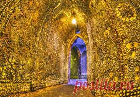 Подземный грот в Англии из ракушек В городке Маргейт Англии есть загадочный подземный грот с стенами и потолками, покрытыми ракушками. Этот грот был обнаружен примерно в 1835 году.