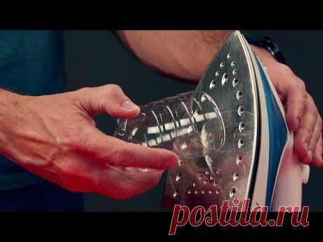 (72) Прижимаем пластиковую бутылку к утюгу. Теперь на кухне - полный порядок. - YouTube