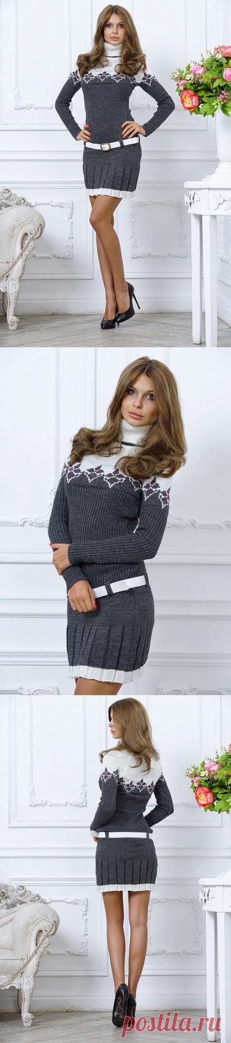 8afeff0d926 Теплое молодежное платье на зимний сезон купить в интернет магазине на  новый год цена в Москве