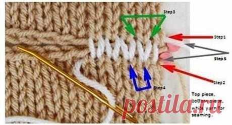 Несколько способов красивого сшивания деталей.