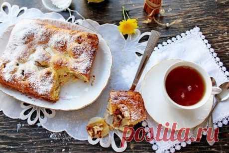 Как приготовить творожный пирог с грушами и орехами - рецепт, ингредиенты и фотографии