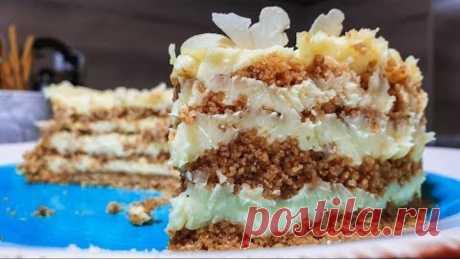 БЕЗ ДУХОВКИ и ПЕЧЕНЬЯ! Торт Пломбир - вкус детства.