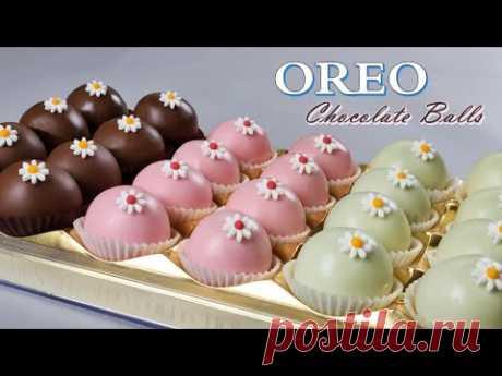 [Eng Sub] Шоколадные шарики OREO / 4 ингредиента / НЕТ выпечки / Легкий рецепт