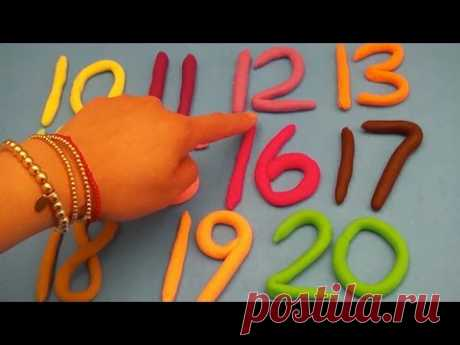 ¡Learn To Count with PLAY-DOH Numbers! ¡1 to 20! Counting New Special Edition Mini Cans Opening