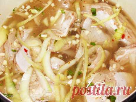 Рецепт: Ребрышки свиные запеченные
