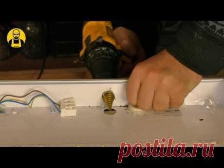 Лучшее освещение для мастерской! Сделал электрику по полной программе!
