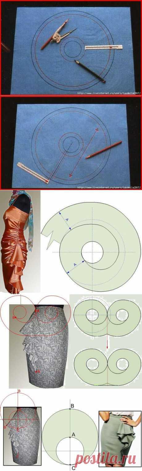 Как построить выкройку волана - Авторские уроки шитья... моделирование, крой, технология - Страна Мам