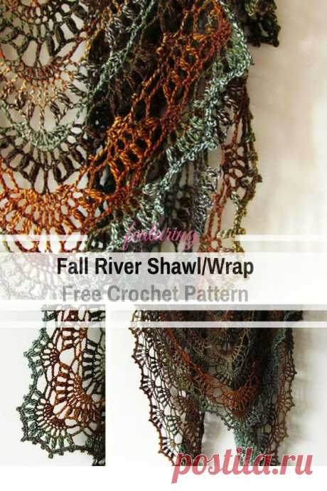 Этот простой узор вязаной шали крючком легко запомнить трехрядный повтор. Узор красиво льется и быстро плетется крючком Super Easy Fall River от Кати Новиковой. Нежный и пышный, настоящий…