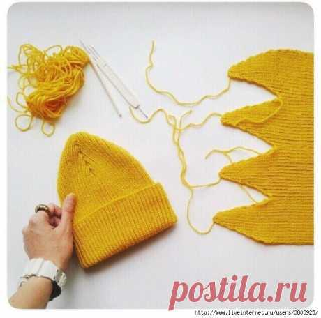 Лимонная шапочка - что-то новое!
