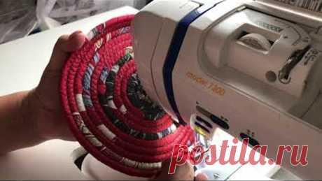 Идеи из веревки и шнура: все мои задумки тут. Шитье из полос и веревок. Текстильные корзины и ковры.