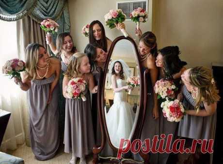 Забавная идея для свадебного фото