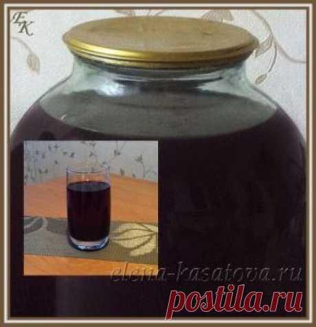 Морс из чёрной смородины - рецепт на зиму