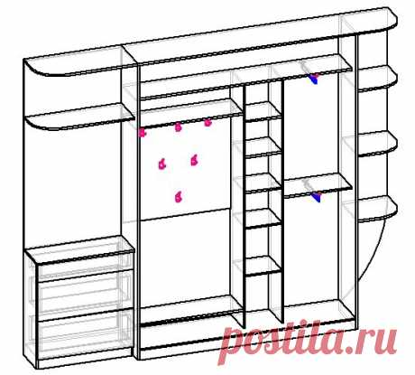Самый узкий шкаф-купе. При какой глубине его вообще есть смысл делать в прихожей-хрущевке коридорного типа | Мебель своими руками | Яндекс Дзен
