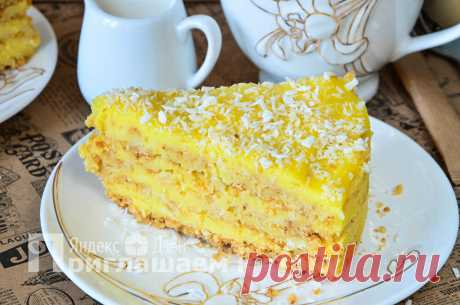Торт, который по вкусу напоминает любимое мороженое «Пломбир»: его еще и выпекать не нужно