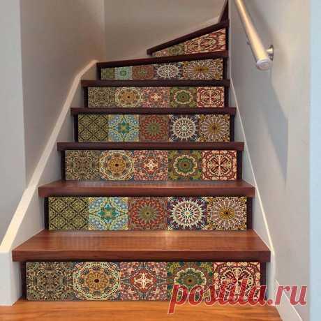 6 шт., 3D наклейки для лестницы, наклейки для дверей спальни, водостойкие нестандартные коврики для лестницы, противоскользящие наклейки для домашнего декора|Коврик| | АлиЭкспресс