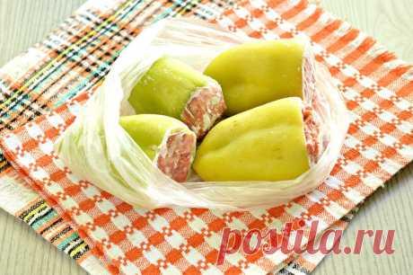 Замороженный фаршированный перец рецепт с фото пошагово