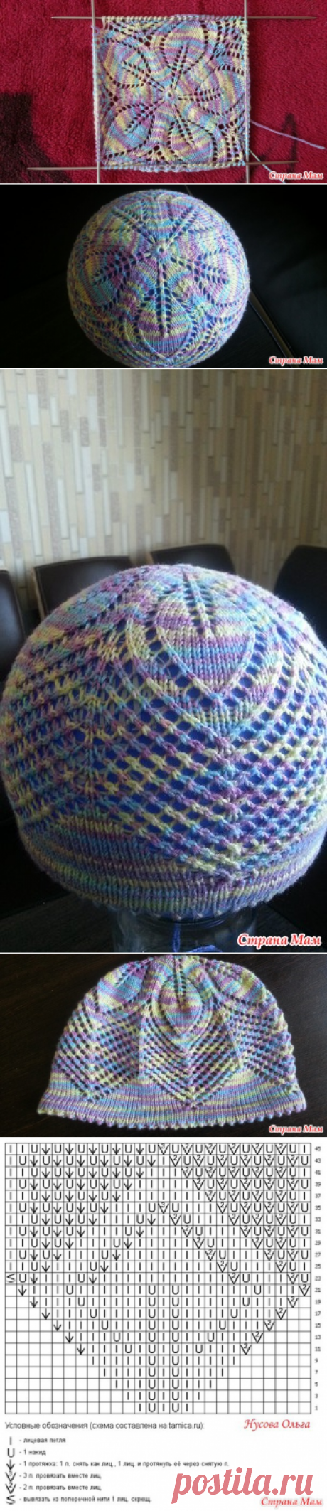 Summer hat for the daughter - Knitting for children - the Country of Mothers