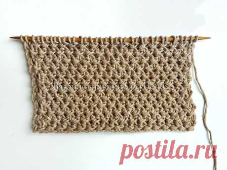 Мелкий фактурный узор спицами для вязания сумок, жилеток, подушек | Вязание спицами CozyHands | Яндекс Дзен