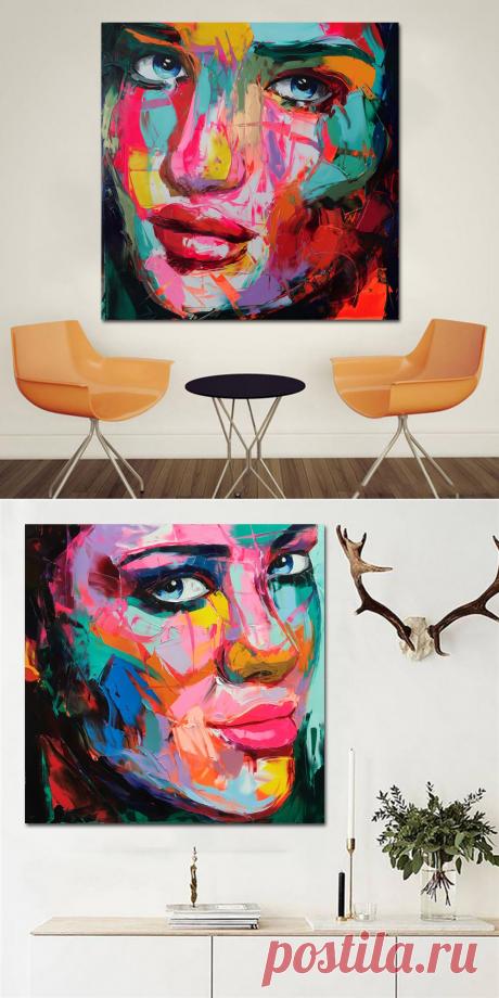 Самоотверженная картина маслом на холсте красочная портретная печать картины на холсте Современное украшение дома стены искусства изображение без рамки купить на AliExpress