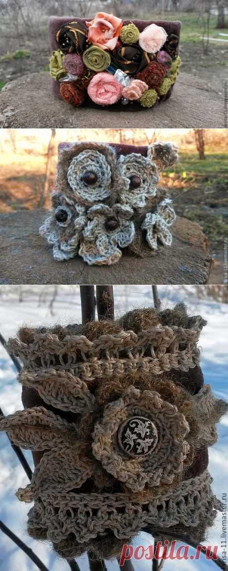 Территория БОХО:Текстильные браслеты и броши от магазина Хомячья лавка.