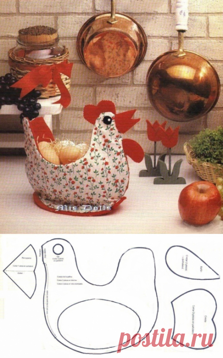 Пасхальная курочка-корзинка