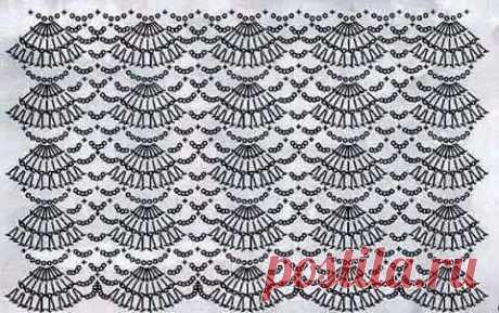 Схемы для подола платья, а вам нравятся пышные юбочки?