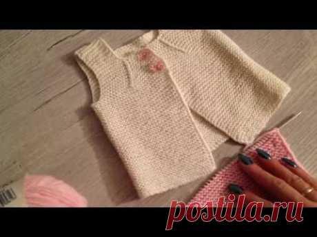 Самая простая жилетка для новорожденной!