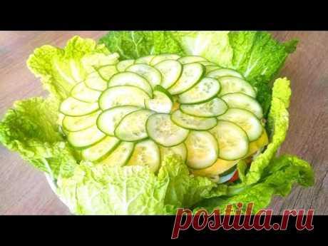 Удивите Гостей! Торт-Салат к Новогоднему Столу! New Year's salad cake