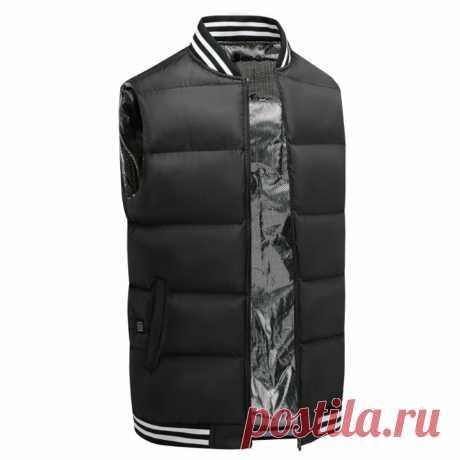 Men women five-zone usb electric heating waistcoat heated jacket winter warmer smart constant temperature Sale - Banggood.com