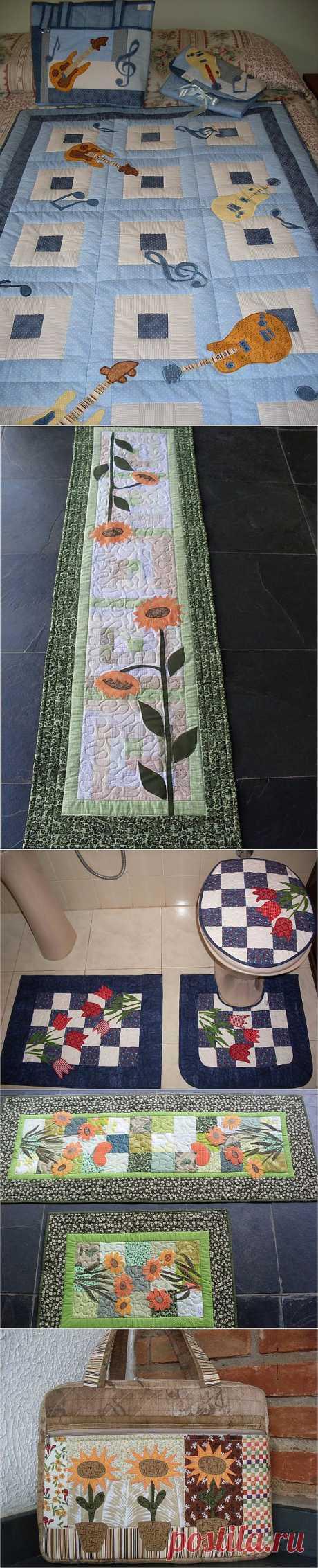 Лоскутные изделия в стиле пэчворк ( сумки, подушки и другое) Fatima Mendes .