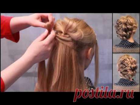 Простые и красивые причёски для девочек своими руками фото 725