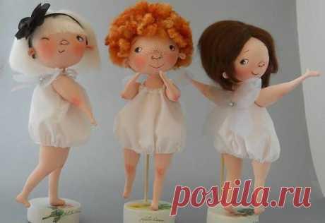Patrones de muñecas trillizas en tela - Patrones gratis