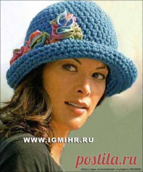 Просто и элегантно: шляпка с цветами крючком — HandMade