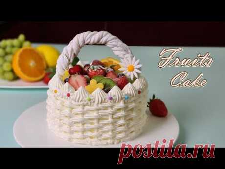 [Eng Sub] 과일 생크림 케이크 만들기/Father's Day /How to make Fruits Fresh Cream Cake /Soft Vanilla Sponge Cake