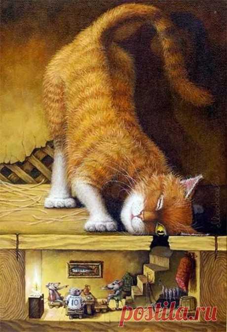 декупаж кот смотрит в дырку в старой двери: 6 тыс изображений найдено в Яндекс.Картинках