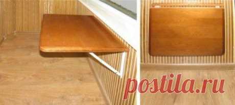 Как сделать откидной столик на балконе из простых материалов? | Мамам, женщинам, бабушкам и очень любознательным.