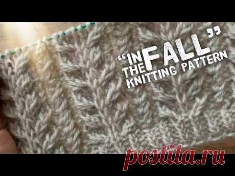 "Изысканная РЕЗИНКА спицами ""In the fall"": подробно! / ПРЯЖА ""Merino Yak"" / Elastic knitting pattern"