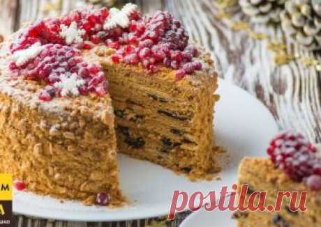 "Торт ""Медовик"" в зимнем стиле Автор рецепта Оксана Пашко - Cookpad"