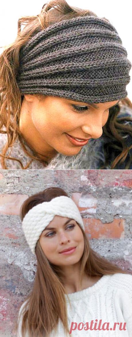 15 красивых повязок на голову спицами — идеальный вариант для весны и осени | Вязание Шапок - Модные и Новые Модели