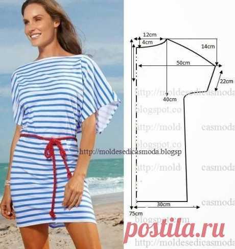 Очень легкие летние модели платьев и туник: моделирование