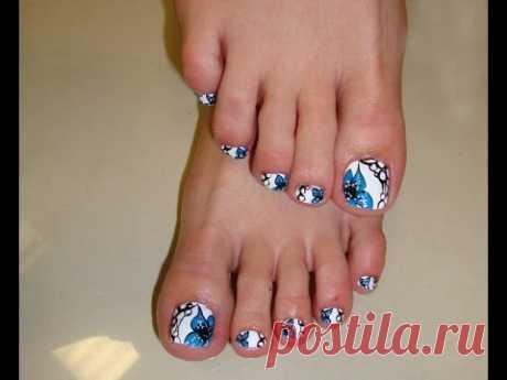 Дизайн Педикюра [Как Сделать Красивый Педикюр] Nail designs. French manicure.