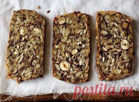 зерновой, бездрожжевой хлеб (без муки)