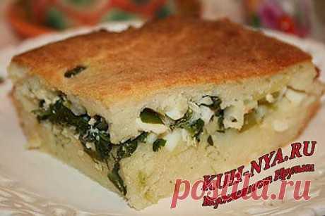 Пирог  с черемшой  и  луком