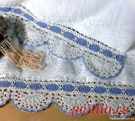 Салфетка и полотенца с каймой. Схемы | Вязаные крючком аксессуары