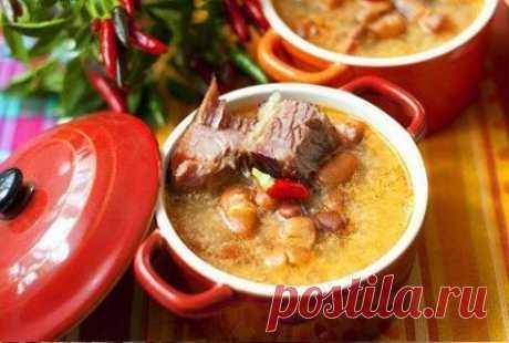 Как приготовить суп с фасолью - рецепт, ингредиенты и фотографии