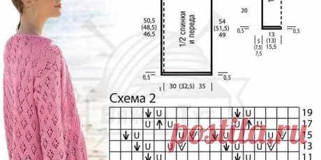Воздушный розовый ажурный кардиган   Вяжем Тут