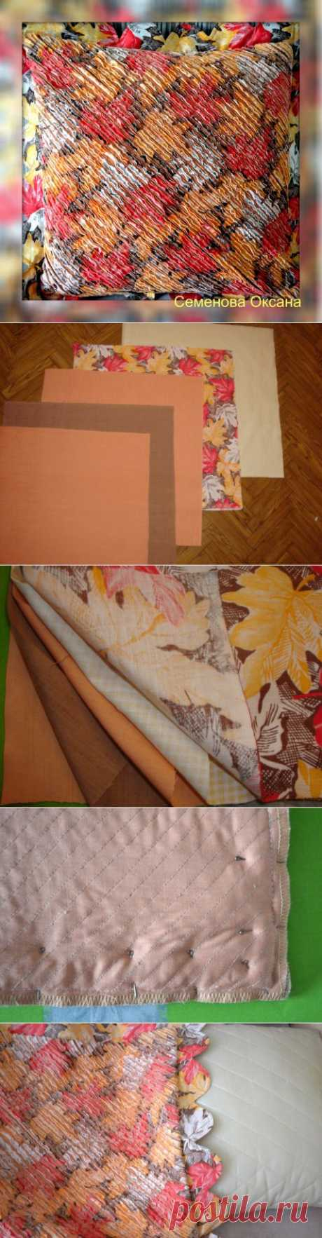 \/ the Autumn time | Ideas from fabric | Posted a leaf fall in the Chenilles \/ Competitions equipment