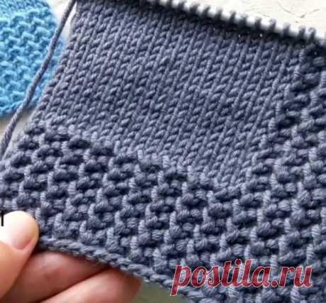 Имитация вязаной резинки
