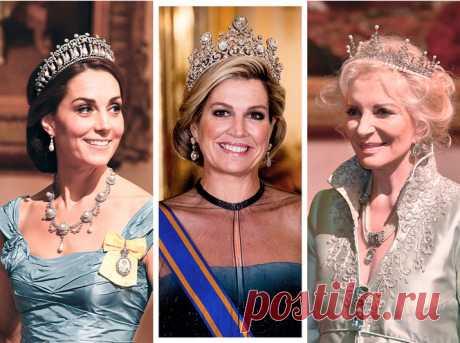 Парад тиар в Букингемском дворце (и самая большая – у королевы Максимы) | Marie Claire